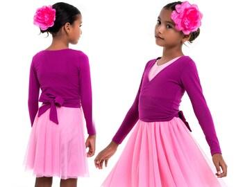 Girls wrap top pattern PDF, ballet wrap pattern, gymnastics wrap pattern, girls sewing pattern pdf, dance sewing pattern BALLET WRAP