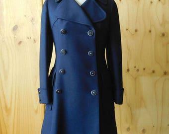 Navy pea coat | Etsy