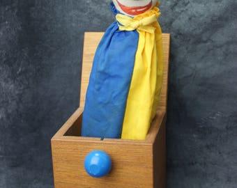 1985 Handmade Jax of Maine Clown Jack in The Box HTF
