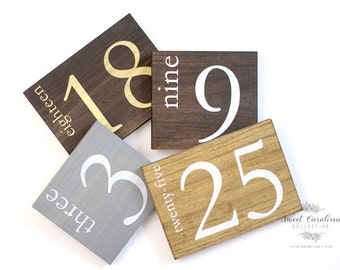 Rustic Wooden Wedding Numbers | Wooden Table Numbers | Wedding Decor | Rustic Numbers | Table Number Ideas | Table Decor - TB-39