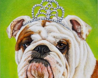 Bulldog in a Crown