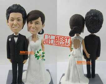 Custom cake topper Wedding topper Bobblehead Cake topper wedding cake topper bobble head most popular cake topper - CT G636RF