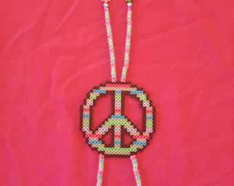 Peace Feathers kandi necklace