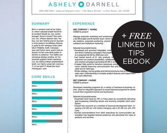 Medical Resume Template | Nurse Resume | Dental Assistant Resume | Healthcare Resume | CV Template | Instant Digital | DARNELL