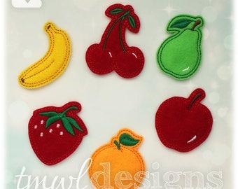 "Fruit Feltie Set Digital Design Files - 1.75"""