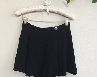 vintage express black mini skort