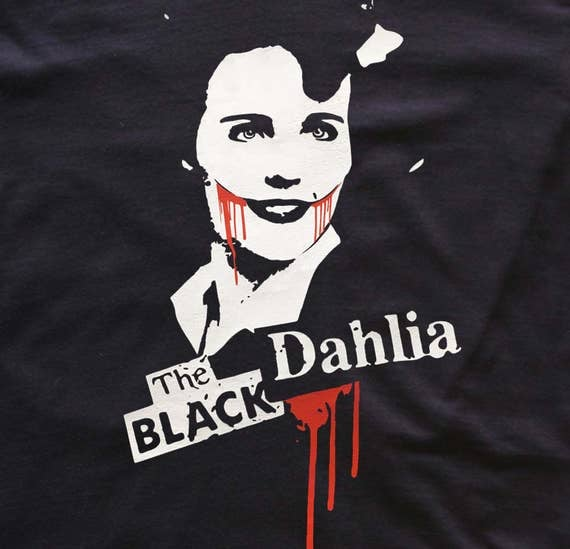 Black Dahlia t-shirt- blood-murder-horror