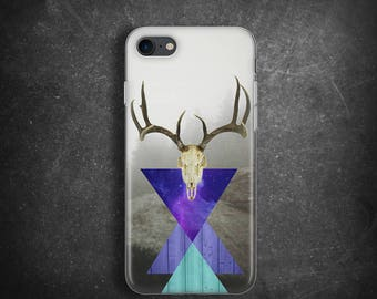 Shaman deer skull case for iPhone 7 Case for iPhone 7 Plus Case for Samsung Galaxy S8 Case rubber Gift for men Case for iPhone 4 slim