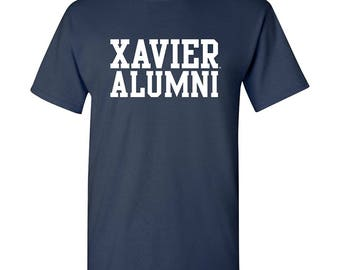 Xavier Musketeers Block Alumni T shirt - Navy