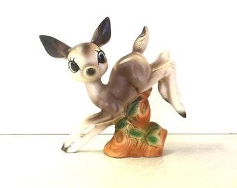 Vintage Ceramic Jumping Deer Figurine