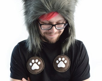 Multi Color Short Wolf Rave Hat with Squeaker