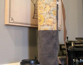 Cottage Chic Yoga Mat Bag and Coffee/Tea Wrap Gift Set