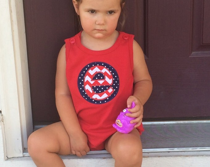 Monogrammed Bubble, 4th of July Bubble, Boy Girl Birthday, Girl Beach Clothes, Baby Summer Bubble, Girl Summer, Girl 4th of July, Romper