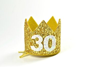 30th Birthday For Her || Dirty 30 Birthday || 30th Birthday Hat || Adult Party Hat || Birthday Crown Adult ||