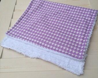 Purple Houndstooth Burp Cloth | Baby | Shower | Gift | Fashion | Unique