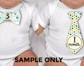 Baby Boy Monthly Stickers for Onesies