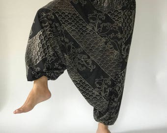 HC0523 Harem Pants Unisex Low Crotch Yoga Trousers