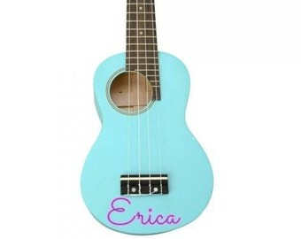 Ukulele, DARK BLUE Painted Ukulele, blue, side Hole, Personalized Ukulele, Decorated Soprano Ukulele, ukulele instrument, ukelele