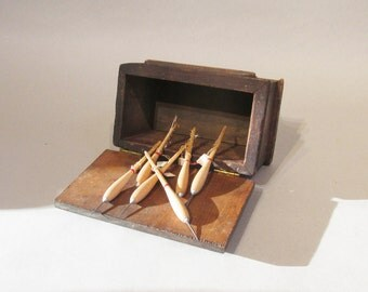 Irish Pub Dart Box - Authentic - Old and Rustic - Darts Included - Need Feathers!