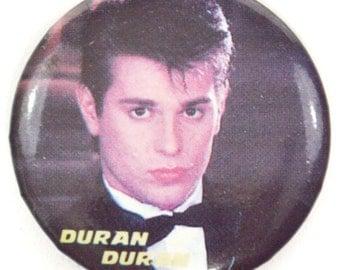 Vintage 80s Duran Duran Pinback Button Pin Badge
