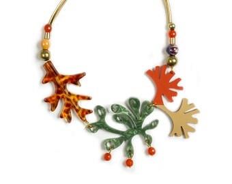 Plants Necklace. LaliBlue