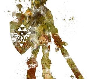 Link, Legend of Zelda ART PRINT 2nd Edition illustration, Gaming, Home Decor, Wall Art