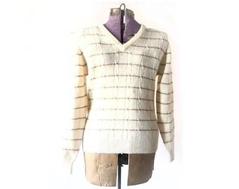 Christian Dior Sweater, Vintage Dior, wool sweater, designer clothing, v neck, Designer sweater, Mens Sweater, Xs Sweater, Women's Sweater,