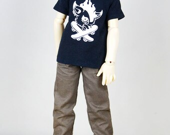 MSD Boy Black Fiery Pony T-shirt