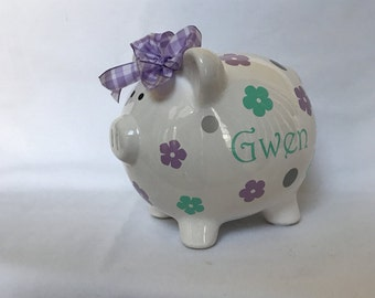Piggy Bank, Large Piggy Bank, Personalized Piggy Bank, Piggy Banks, Piggy Bank For Girls, Girl Piggy Bank, Boy Piggy Bank, Piggie bank
