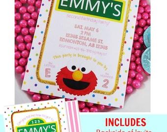 Elmo Invitation | Pink Elmo Birthday | Elmo Party | Elmo Printable | Elmo Party Printable | Sesame Street Birthday | Epic Parties by REVO