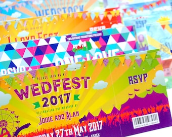 Wedfest Festival Wedding Invites (sample pack)