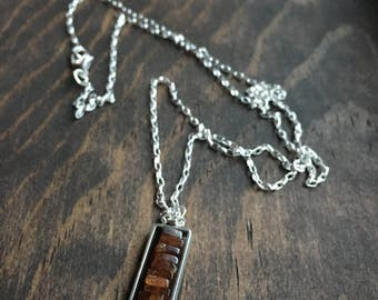 Sterling Silver Hessonite Pendant Necklace