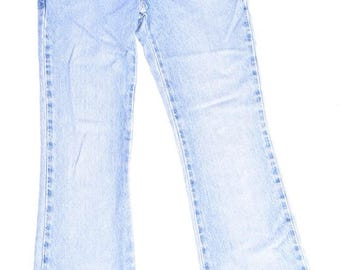 Vintage 90's Frayed Blue Denim Jeans / Faded Blue Jeans / Grunge Frayed Jeans - Extra Small