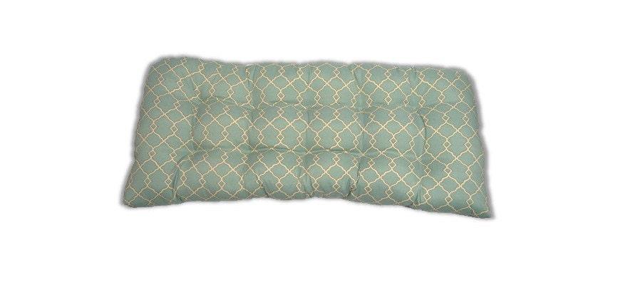 Indoor Outdoor Wicker Loveseat Cushion For Wicker Bench