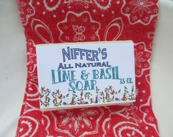 Niffer's All Natural Lime & Basil Soap 3.5 oz.