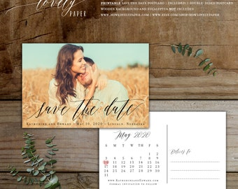 Printable Save the Date Postcard - the Sage Collection