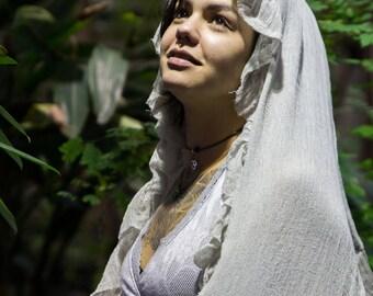 Magdalena ~* Magical Plant Dyed elven Gauze Shawl