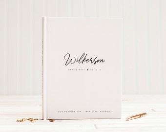 Wedding Guest Book Wedding Guestbook Custom Guest Book custom wedding gift wedding photo album ...