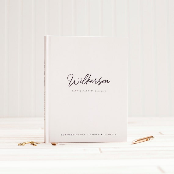 Wedding Guest Book Wedding Guestbook Custom Guest Book custom wedding gift wedding photo book wedding planner book wedding sign in book