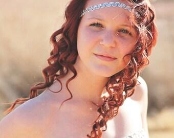 Silver Boho Headband - Bohemian Headband - Forehead Headband - Hippie Headband - Halo Headband - Womens Headband - Headbands for Teens