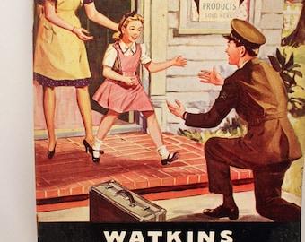 Watkins Almanac Cookbook Soft Cover Advertising Ephemera 1945