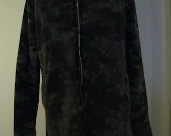 Camouflage Gray Cotton Long Jacket.