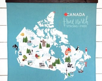 Canada Map Wall Hanging | Canada 150 | Illustrated Map