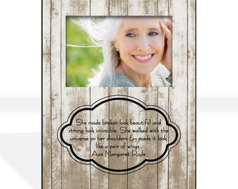 Sympathy Gift Mother Custom Photo Frame, Condolence Gift, Custom Quote Picture Frame Personalized Rustic Custom Designed 8 x 10 w/ 4 x 6