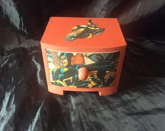 Batgirl Hand Decorated Storage/Gift small chest