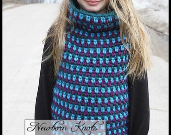 Crochet Pattern Totally Tubular Pullover. Pattern number 085. Instant Download