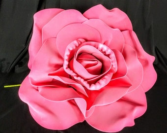 "1 Rose Hot Pink Foam 20"" Diameter"