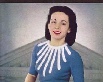 June 1949 Stitchcraft Knitting Book  - Women's Sweaters and Cardigans - Original Patterns