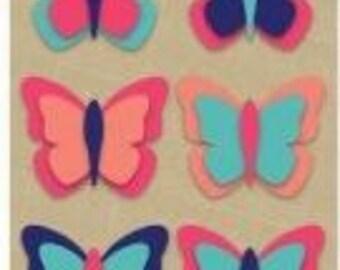 Hampton Art Felt Stickers - Butterflies