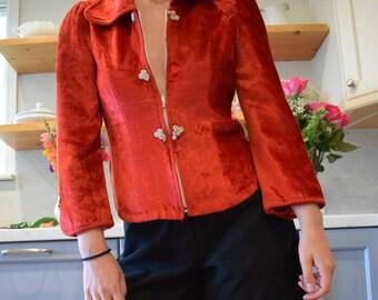 60's Red Velvet Jacket
